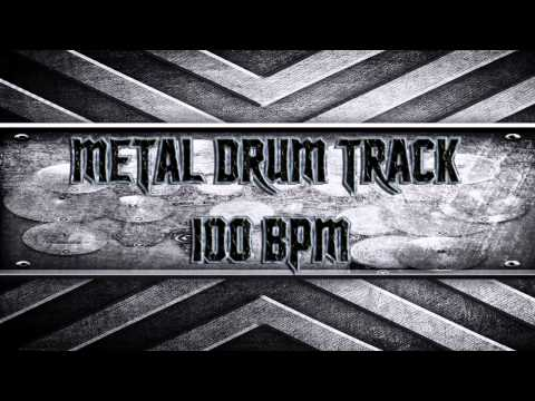 Metal Drum Track 100 BPM (HQ,HD)