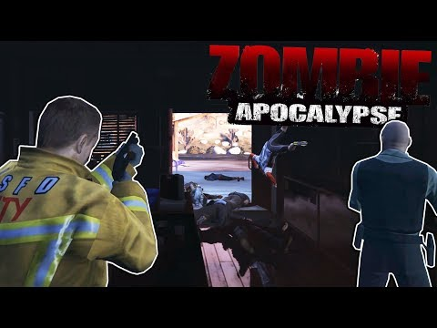 GTA 5 - FINDING SHELTER TO SURVIVE THE ZOMBIE APOCALYPSE! - GTA 5 Gameplay Zombie Multiplayer Mod