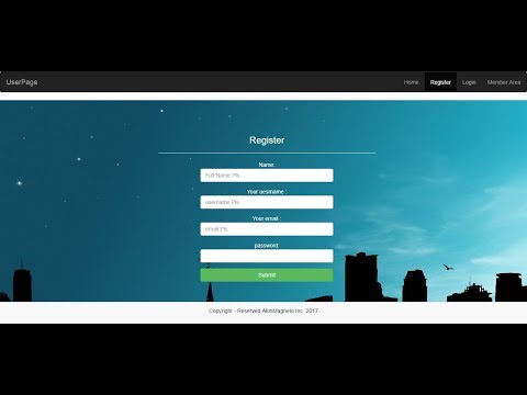 6 – Creating the Register Page   Full membership website using Bootstrap & PHP Code