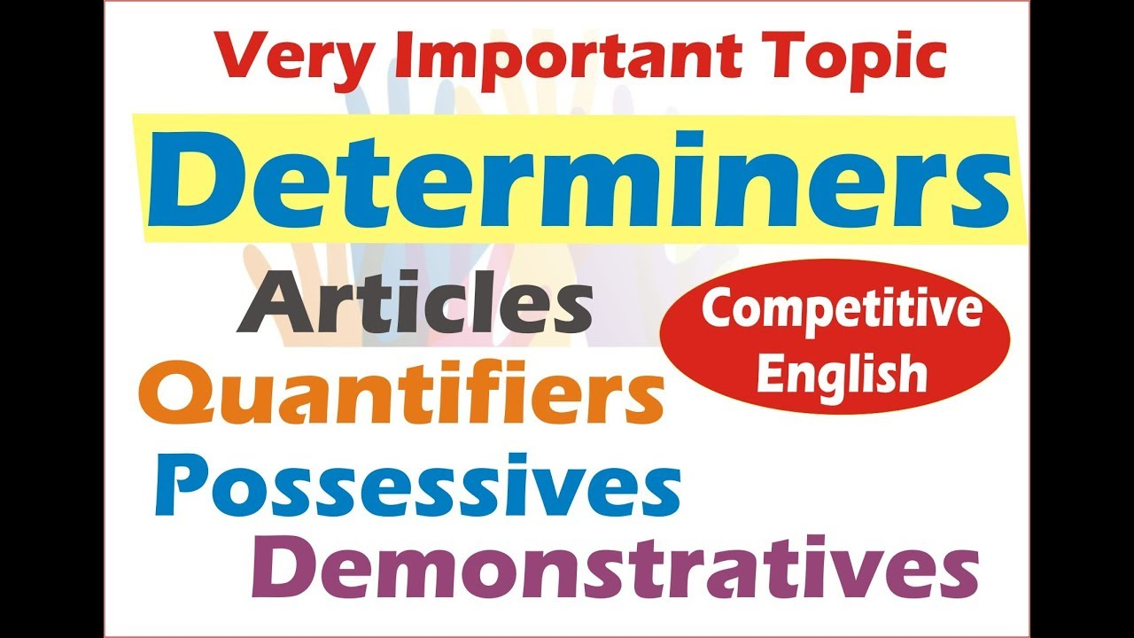 Determiners In English Grammar  Quantifiers  Articles