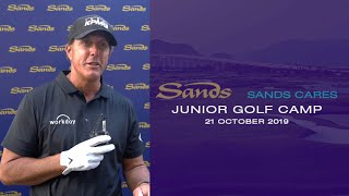 Sands Cares Junior Golf Camp with Phil Mickelson & Haotong Li