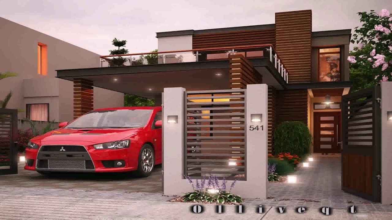 Best Kitchen Gallery: Modern Two Story House Designs Philippines Youtube of Double Storey Modern House Plans on rachelxblog.com