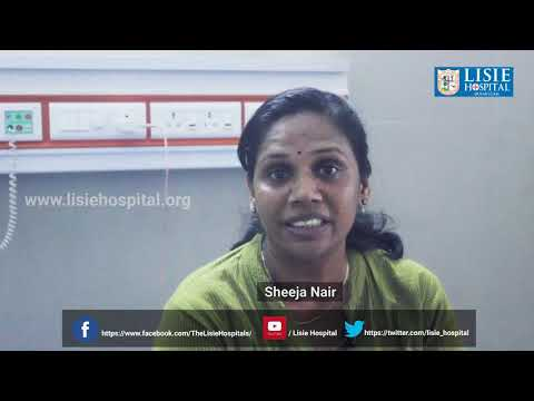 Patient Testimonial | Mrs. Sheeja Nair about Lisie Hospital | General medicine Dept