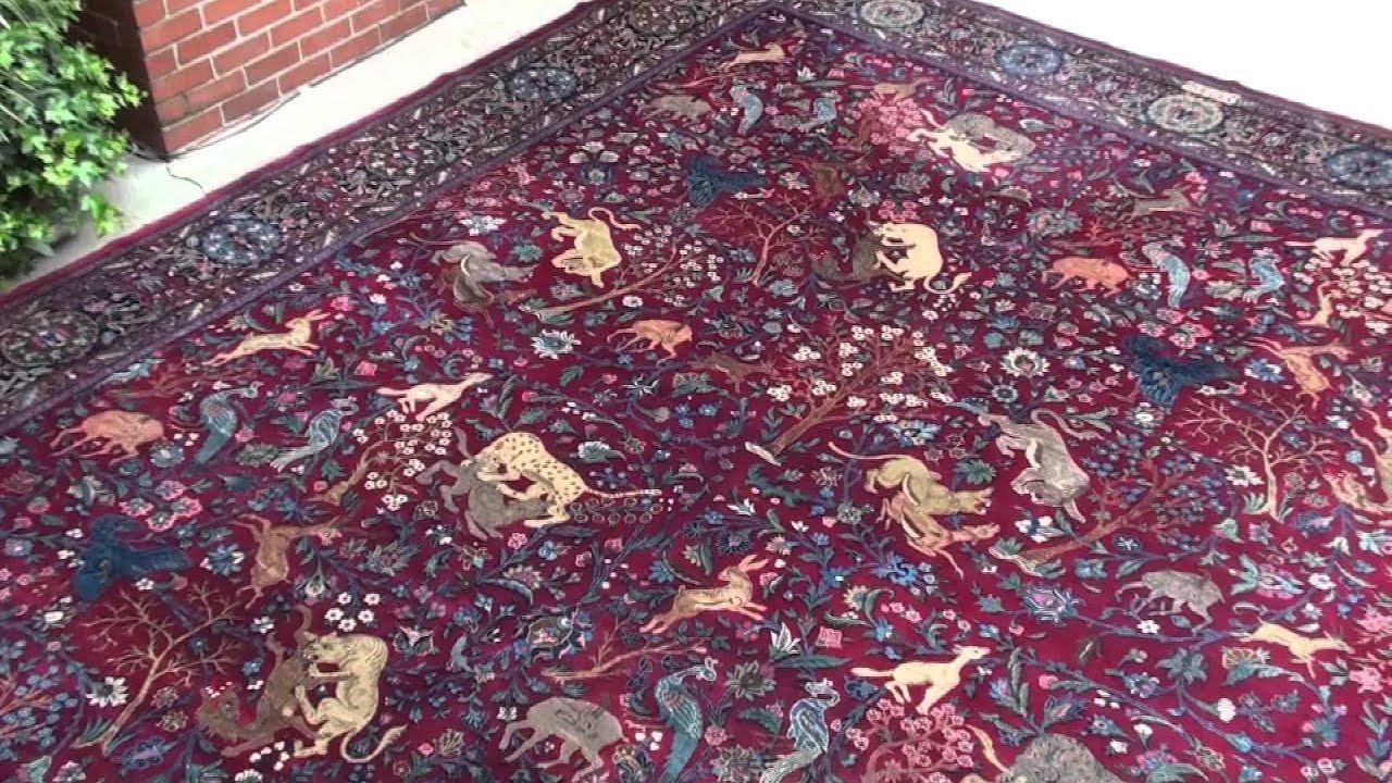 Animal carpet, Persian carpet, Tabriz rug - YouTube