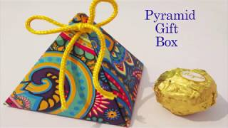 Pyramid gift box || chocolate Day special || DIY gift box || Birthday Special gift