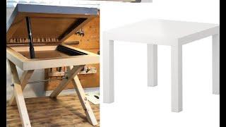 IKEA LACK Tisch mit Geheimfach in Betonoptik