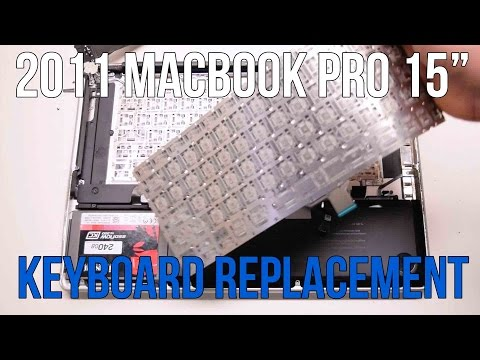 "2011 Macbook Pro 15"" A1286 Keyboard Replacement"