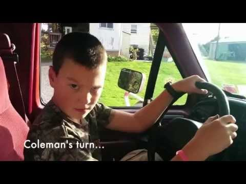 The twins taking turns driving