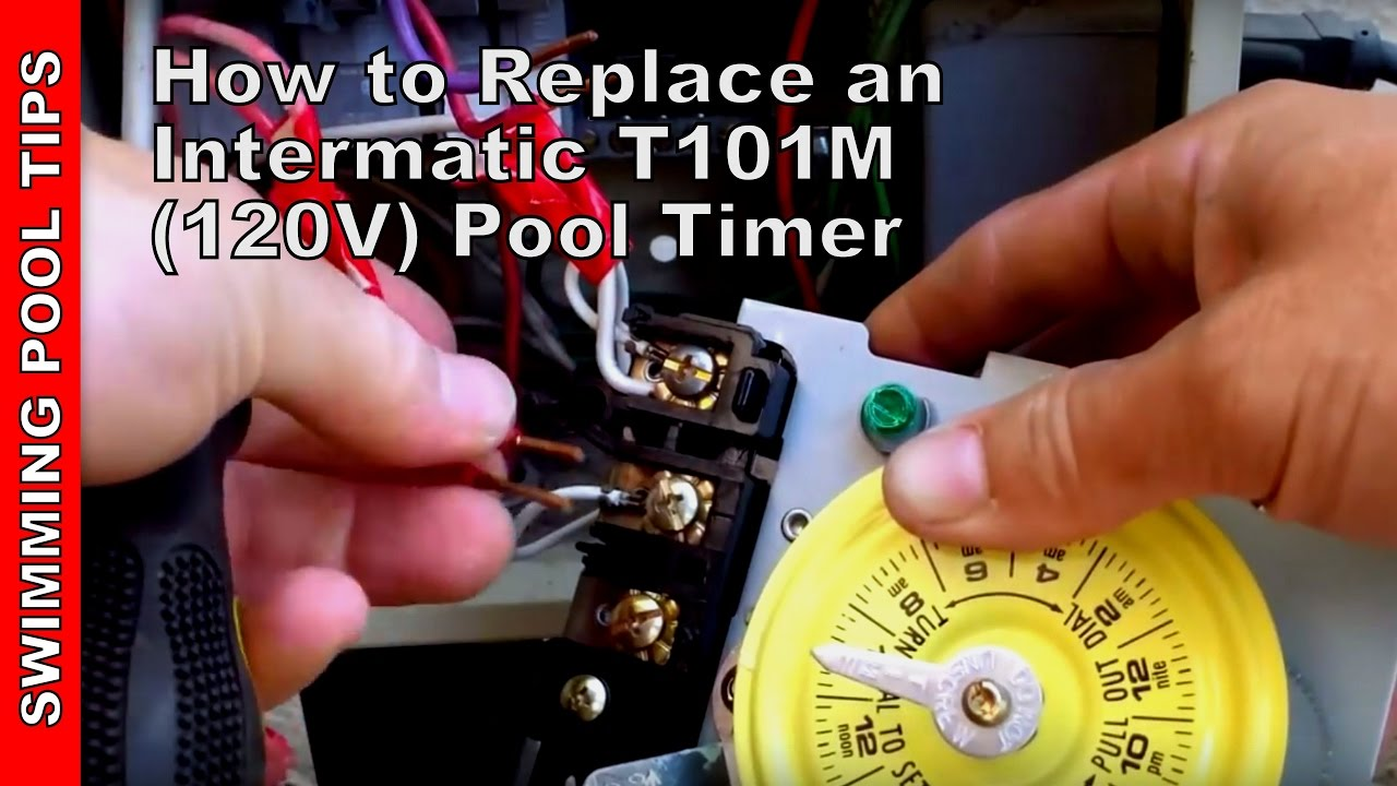 Pool Timer Wiring Diagram Intermatic Duck Wing How To Replace An T101m 120v Youtube