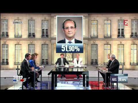French presidential elections 2012: final results at 8pm local time