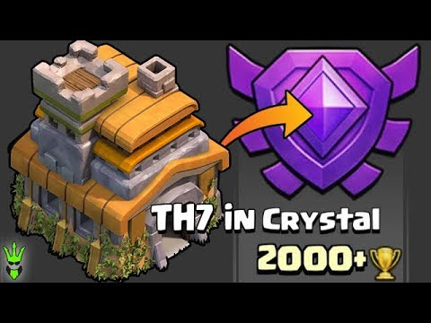 TH7 GETTING TO CRYSTAL LEAGUE! - Push That Rush Ep.13 - Clash Of Clans