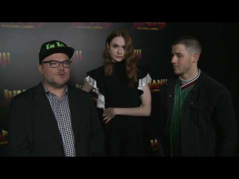 Jumanji: Welcome to the Jungle: Jack Black, Karen Gillian, & Nick Jonas Movie Interview