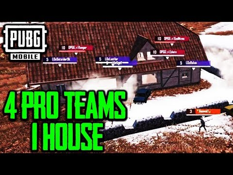4 PUBG MOBILE PRO TEAMS + 1 HOUSE = INTENSE | Lights Out, SV, OPGG, G25