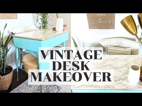 DIY FURNITURE MAKEOVER | PAINTED VINTAGE METAL DESK