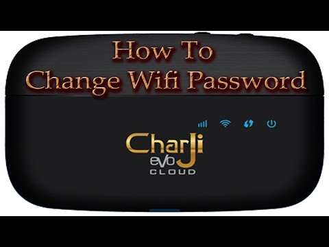 How to change wifi password ptcl charji evo cloud