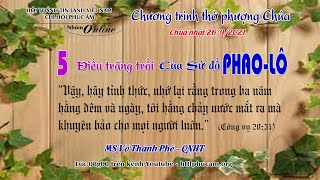 HTTL PHÚC ÂM -  Chương Trình Thờ Phượng Chúa - 26/09/2021