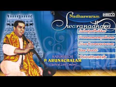 Carnatic Instrumental | Nadhaswaram | Karukurichi P. Arunachalam | Swaranadham | Live Concert