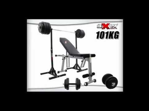 Sklep Xtreme poleca: Axer Fado-1 Zestaw do ćwiczeń z obciążeniem 101kg