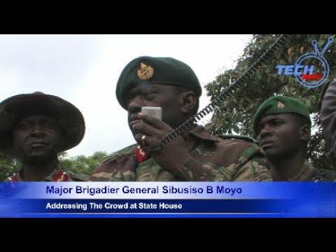 Major Brigadier  General Sibusiso B Moyo Adrresses Crowd