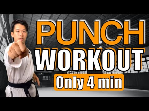 4 MINUTE KARATE TABATA WORKOUT for Faster & Stronger PUNCHES