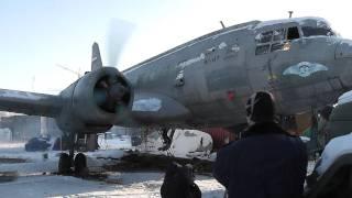 Первый запуск двигателя ИЛ-14 в Тушино..mpg