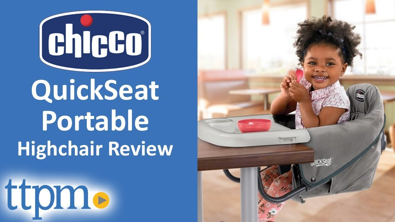 portable baby high chair hook on clear kitchen chairs quickseat from chicco youtube