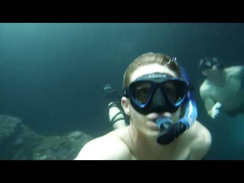 Cave diving Camp Schwab, Okinawa Japan.
