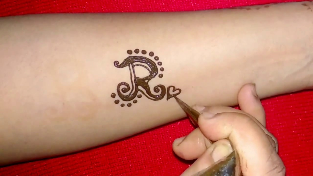 172b490cf6f7b DIY ''R'' Letter henna tattoo design - YouTube