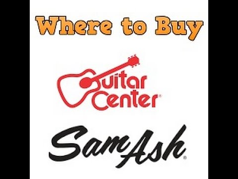 """Best Brick and Mortar Musical Equipment Retailers """"Where to Buy"""""""