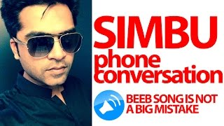 Simbu open phone call about Beeb Song leaked | Controversial video | Cine Flick(For More Fun Videos : https://www.youtube.com/channel/UCA2vNXKbj8hsY2FaylGdriw?sub_confirmation=1 SUBSCRIBE CHANNEL ..., 2015-12-21T08:09:22.000Z)