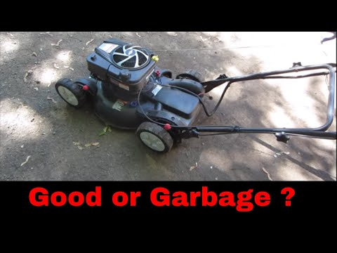 Free yard sale broken lawn mower can we fix it?