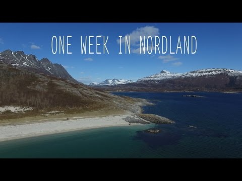 Beach life and skiing in Nordland - Norway by drone