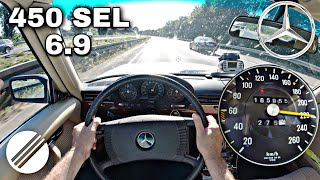 1978 Mercedes-Benz 450 SEL 6.9 W116 TOP SPEED DRIVE ON GERMAN AUTOBAHN🏎