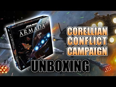 Corellian Conflict Star Wars Armada Unboxing & Review