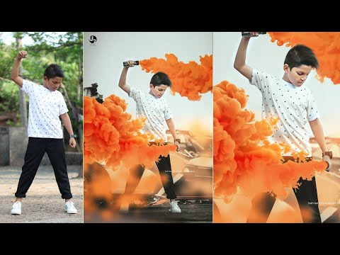 photo editing in photoshop smoke bomb