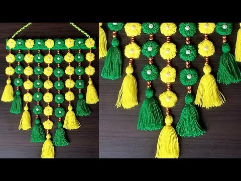 DIY wall Hanging out of wool / Home Decoration Idea