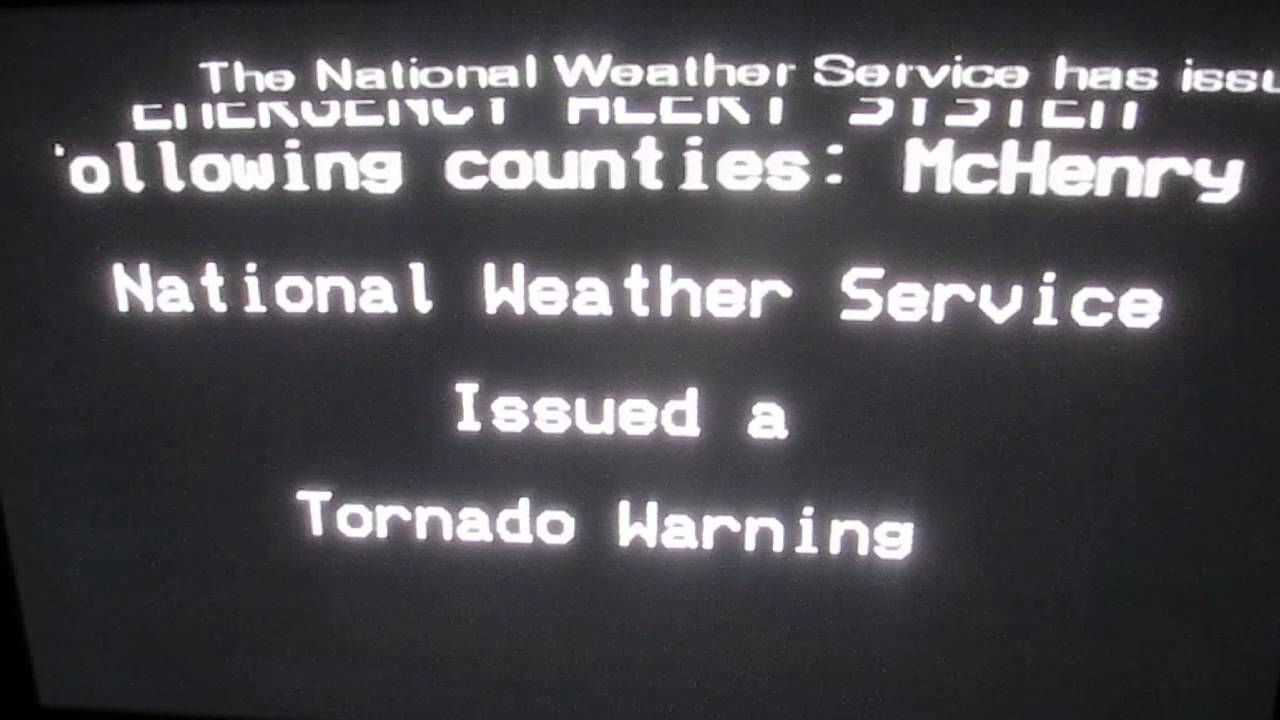 Tornado Warning on TV AT 2 AM! (EAS #771) - YouTube
