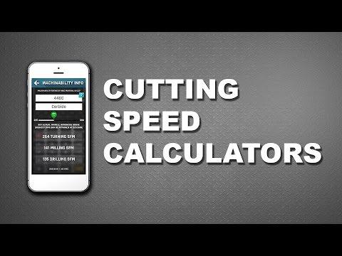CNC Machinist Calculator - SFM Cutting speed Calculator