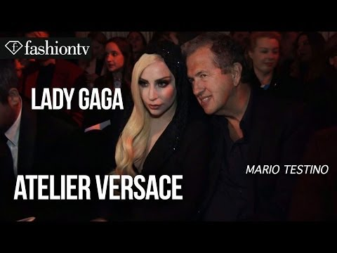 Lady Gaga at Versace Spring/Summer 2014 Arrivals | Paris Haute Couture Fashion Week | FashionTV