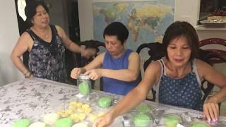 Làm  Bánh Dẻo Đậu xanh  Sầu Riêng cùng các chị New Jersey - New York