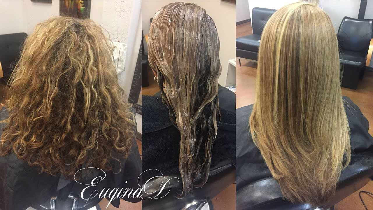 Peter coppola keratin smoothing treatment on Highlighted hair