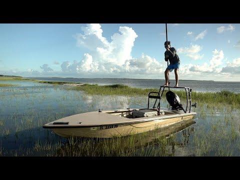 Tidal Flow Fishing! ( Push Pole )