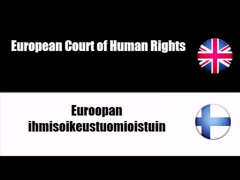 LEARN FINNISH WORDS - Court of Justice of the European Communities