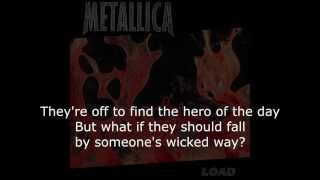Metallica - Hero Of The Day Lyrics (HD)