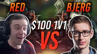 REDMERCY VS BJERGSEN | $100 1v1 SHOWDOWN!! - League of Legends