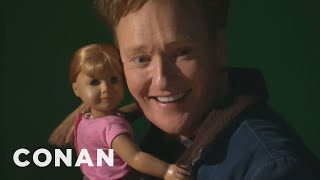 Forget tea parties. Conan makes his own special American Girl Doll and shares an awkward, boozy lunch with it. More CONAN @ http://teamcoco.com/video ...