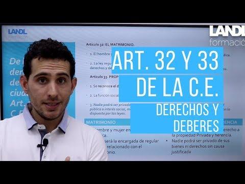 De los derechos y deberes de los ciudadanos Art. 32 y 33 de la CE.