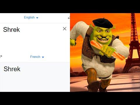 Shrek in different languages meme