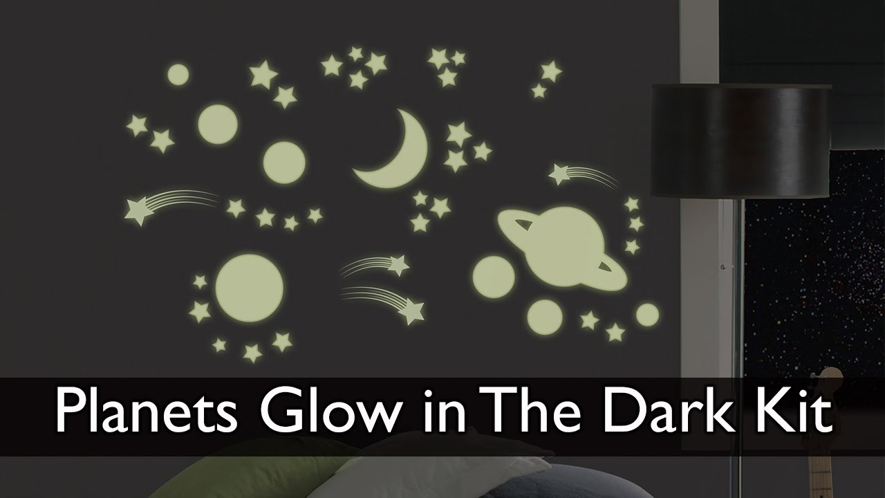 Planets Wall Art Planets Glow In The Dark Wall Art Kit