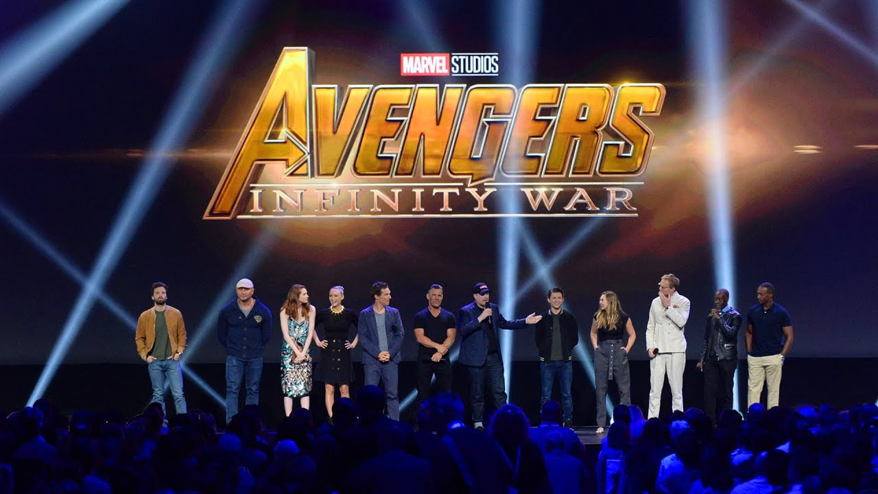 huge avengers: infinity war cast gathering for marvel panel at the